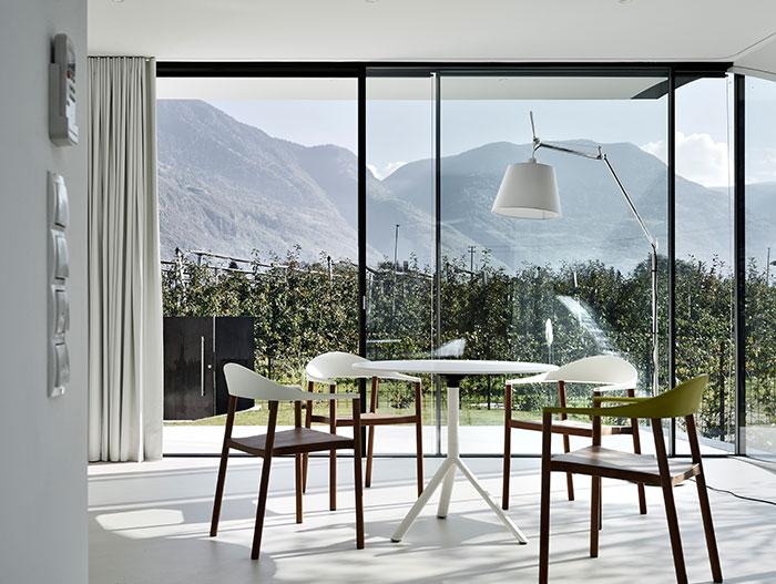 Modern interior design in amazing Mirror Houses near Bolzano, Italy
