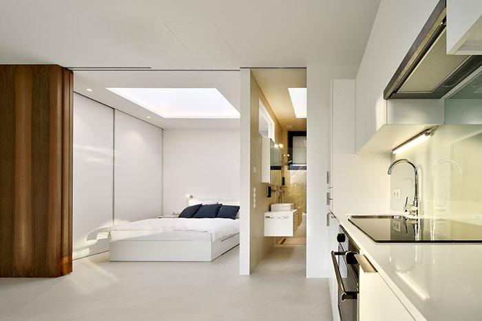 Modern interior design in striking Mirror Houses in Italy