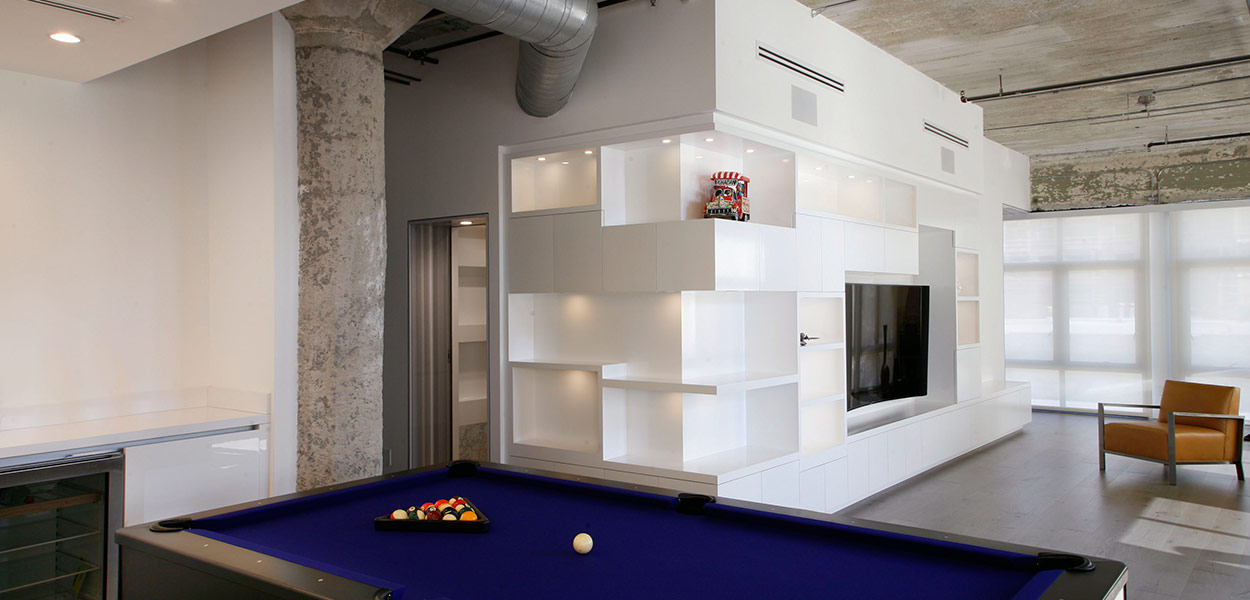 Modern interior design twin loft in downtown Los Angeles