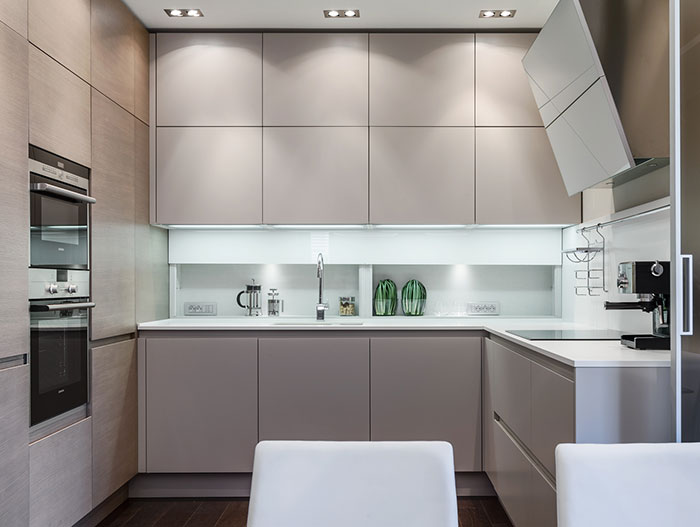 Modern kitchen design in lavish apartment near Monaco by Italian based NG-Studio design & architecture firm