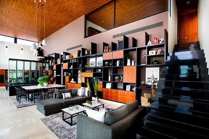 Modern living room design in amazing house in Yucatan, Mexico by Seijo Peon Arquitectos y Asociados