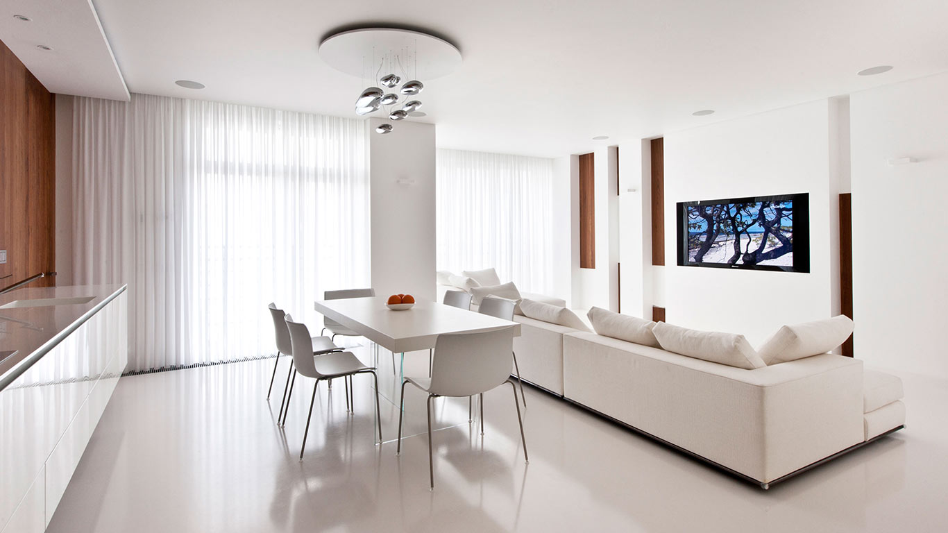 Modern moscow apartment with all white interior by alexandra fedorova 10 stunning homes Modern apartment interior design