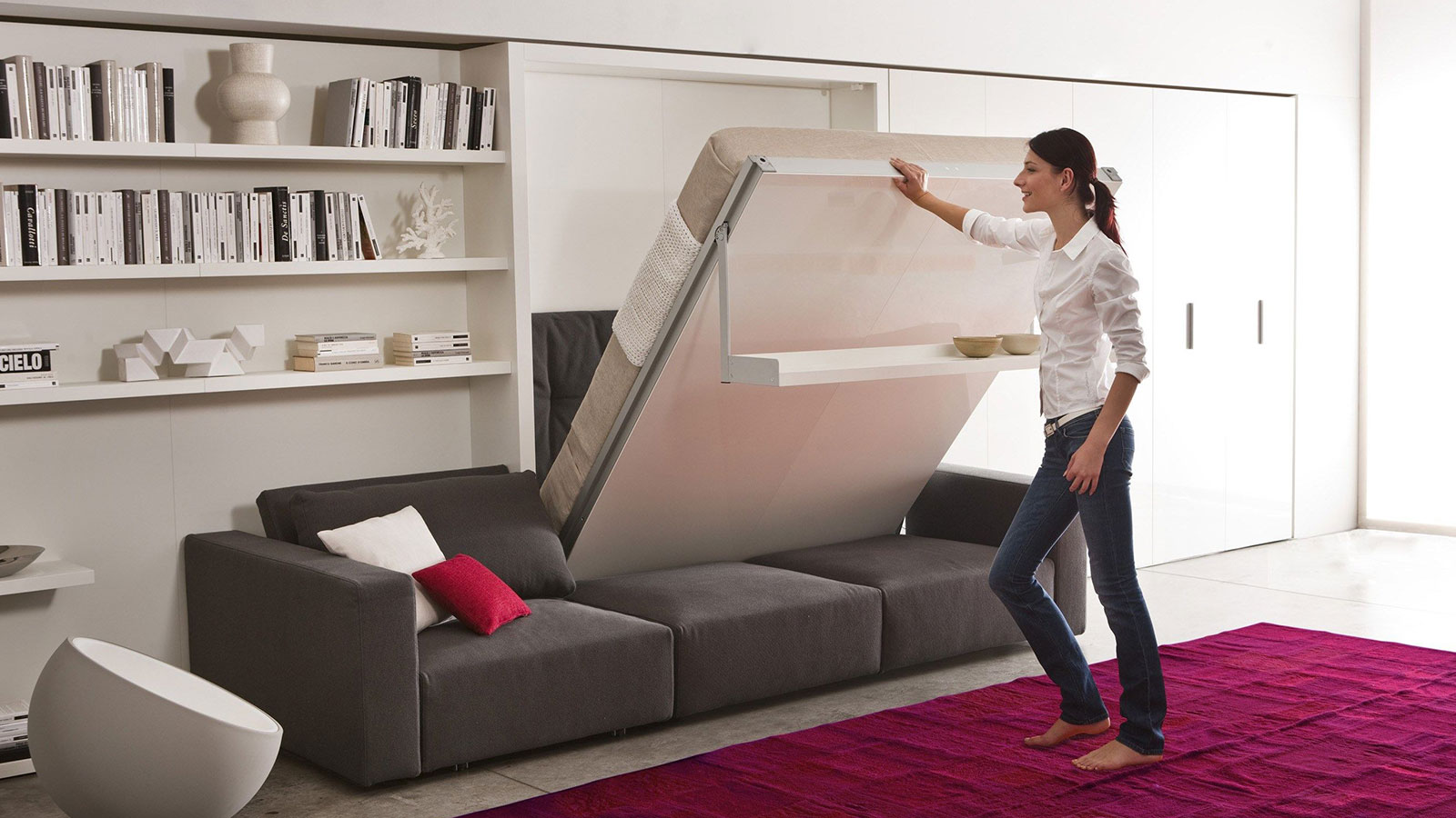 These 10 modern murphy beds will help you maximize space for Idee arredamento studio casa
