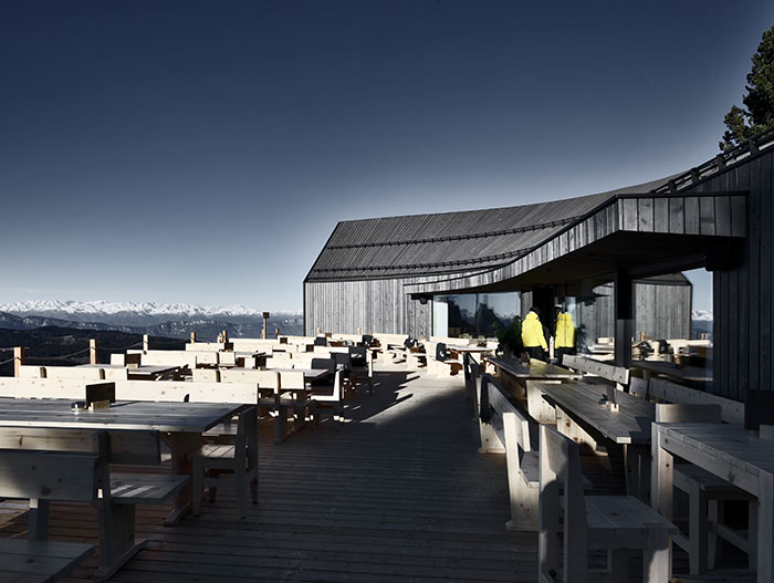 At nearly 11,000 feet, Oberholz Mountain Hut by Peter Pichler Architects offers visitors some of the most stunning views in all of Italy