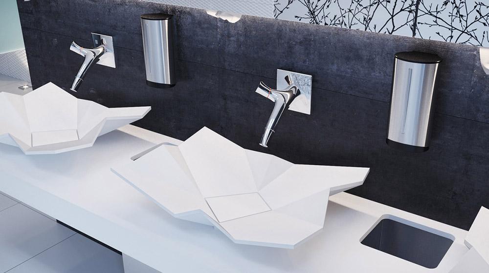 Origami sink by eumar unique bathroom sink