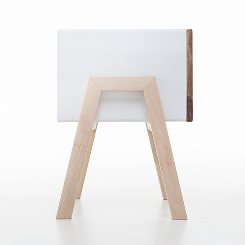 Ottone Wood Bedside Table By Formabilio