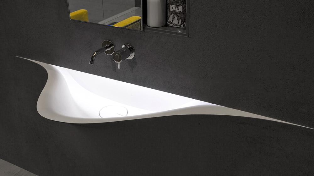 Silenzio bathroom sink by antoniolupi