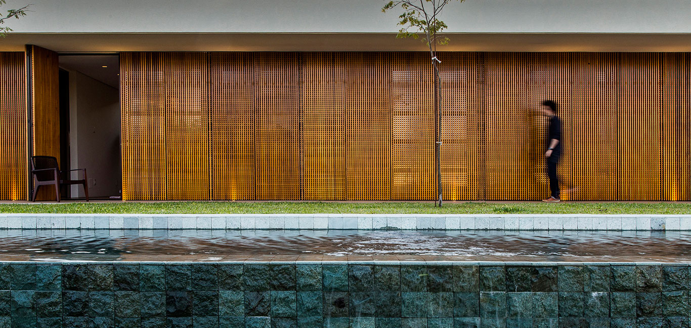Wooden and concrete single-family house with stunning pool, located near Sao Paulo, Brazil