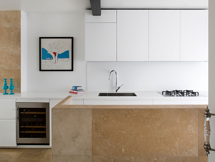 Small minimialist kitchen design idea in a modern, renovated house in London by extrArchitecture