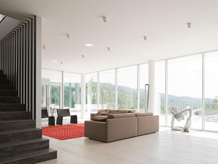 Sochi Villa Open plan interior design - living area