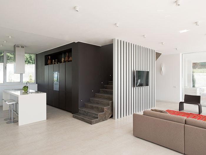 Sochi villa - modern open plan kitchen and living area