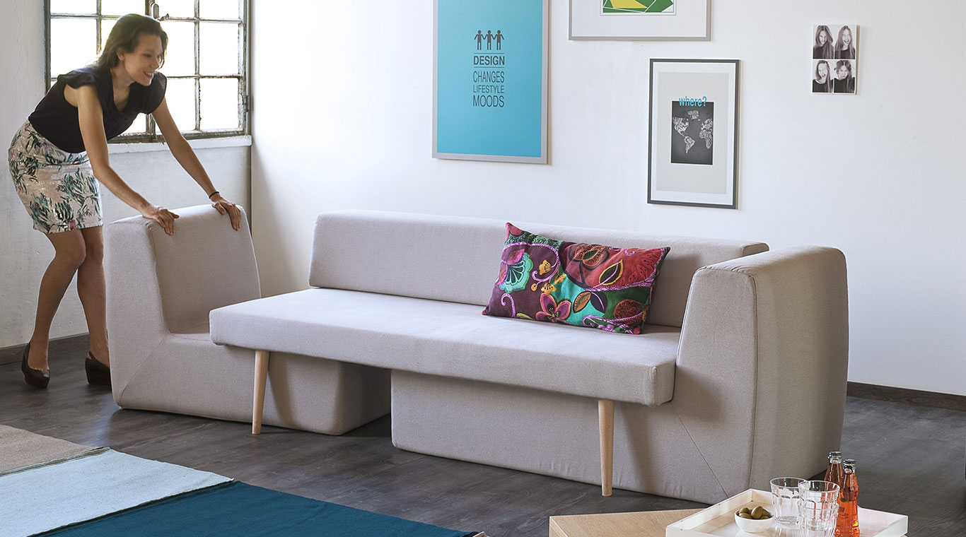 Small living room? This modular sofa will be perfect for you ...