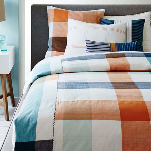 Steven Alan Bold Plaid Duvet Cover And Shams