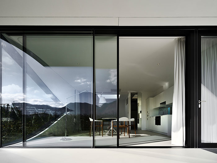 Striking interior design in Mirror Houses - best vacation homes in Italy that you can book today
