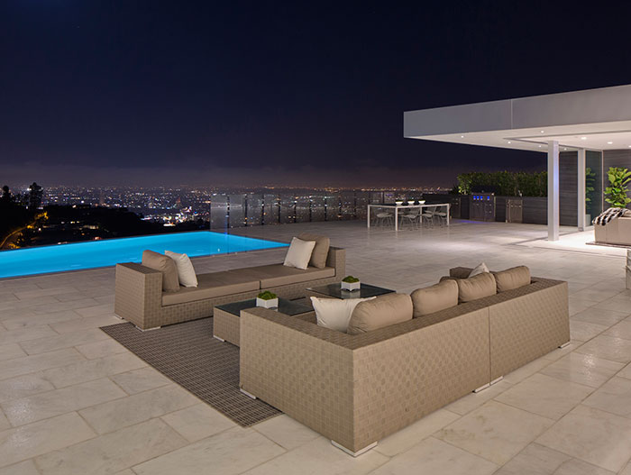 Stunning views of Los Angeles from Beverly Hills mega mansion - Carla Ridge Residence by McClean Design
