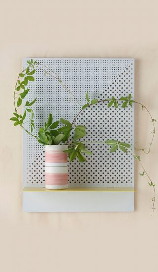 Stylish Perforated Wall Shelves by Australian studio Bride & Wolfe