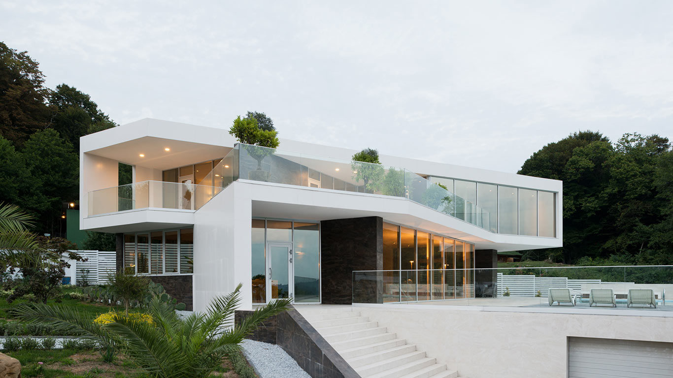 Villa v spacious contemporary house in sochi russia 10 for Architecture villa design