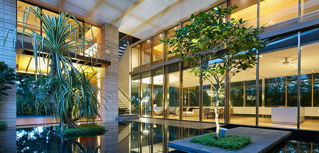 Zen Courtyard: Contemporary home in Singapore inspired by the ...