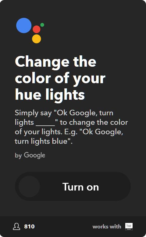 10 Best IFTTT Applets for Google Home & Pixel - Change the color of your Philips Hue lights