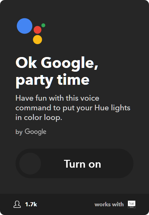 10 Best IFTTT Applets for Google Home & Pixel - Start color loop on your Philips Hue lights