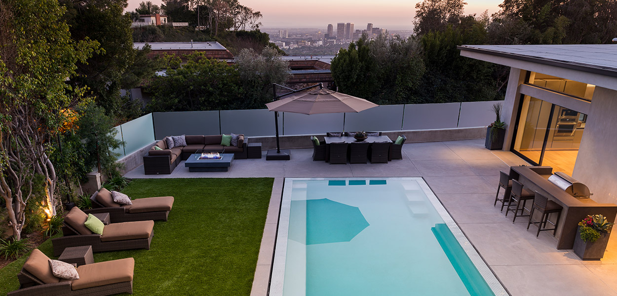 A stylish modern home in Beverly Hills California