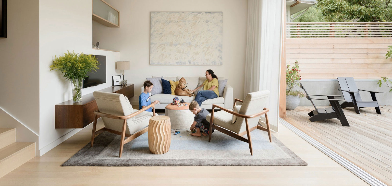 An unconventional home renovation for a playful young family