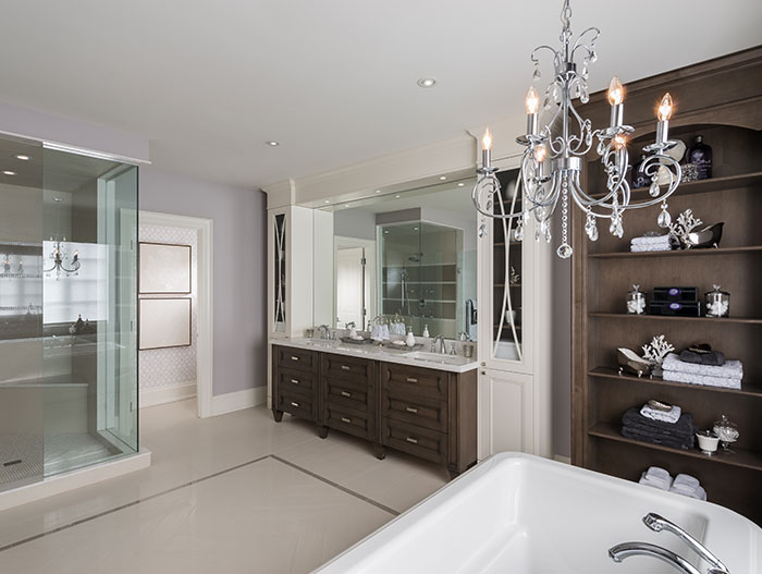 Beautiful Bathroom Design In A Model House In Canada