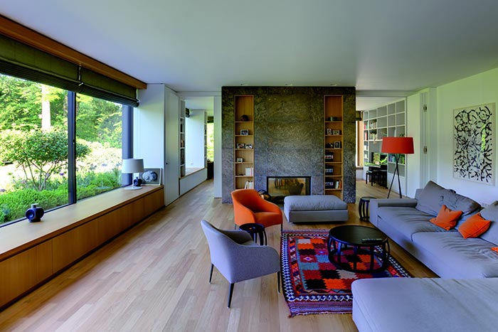 Beautiful Living Room In A Bauhaus Style House In Germany