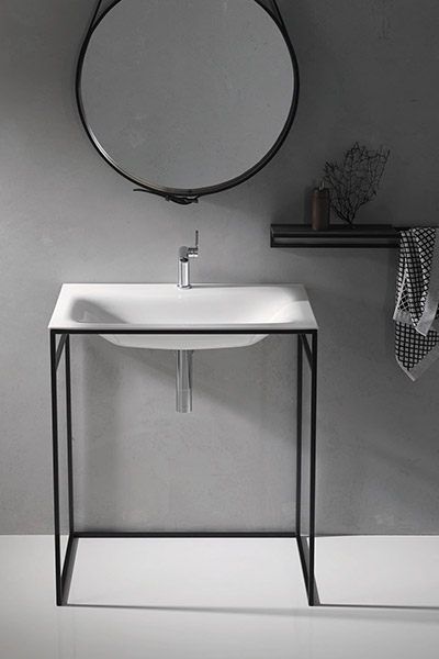 BetteLux Shape Collection Washbasin Supported By Steel Frame
