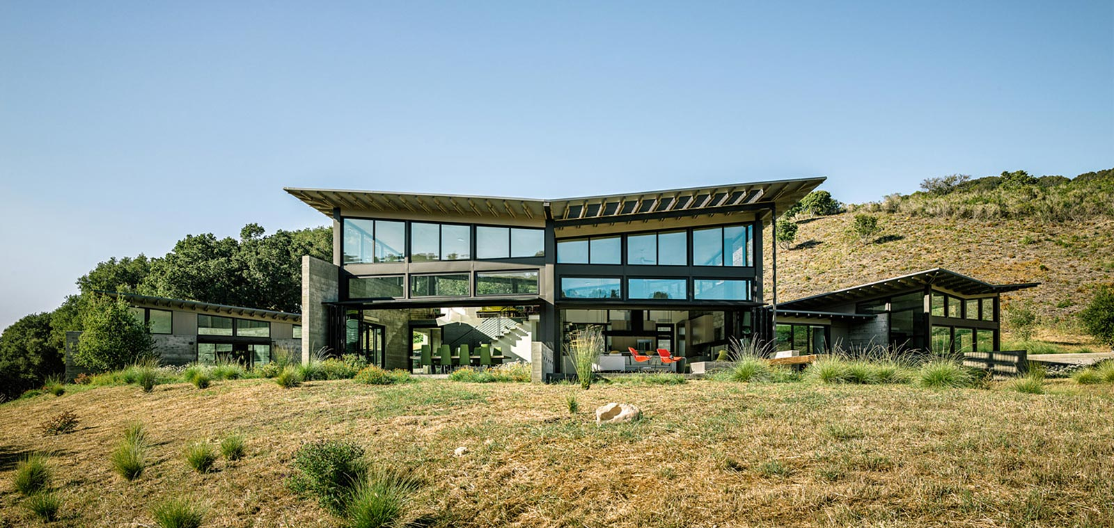 Butterfly House By Feldman Architecture - Contemporary Low-Energy Home In Carmel California Inspired By Nature