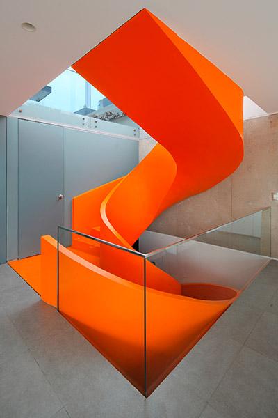 Casa Blanca Spectacular Orange Spiral Staircase