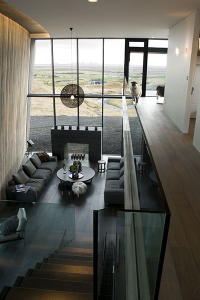 Casa G Modern Living Room With Beautiful View In Iceland