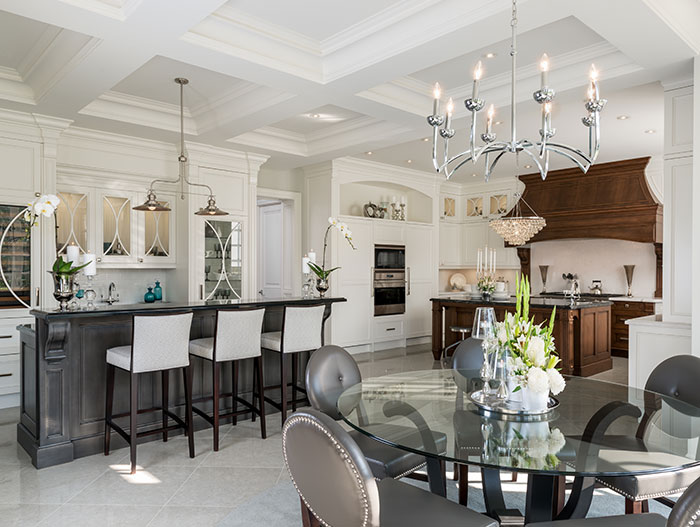 Casual Traditional Kitchen Design In Markham Ontario