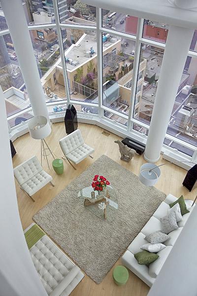 Chelsea Duplex Penthouse - Modern Living Room Design Using Feng Shui Principles
