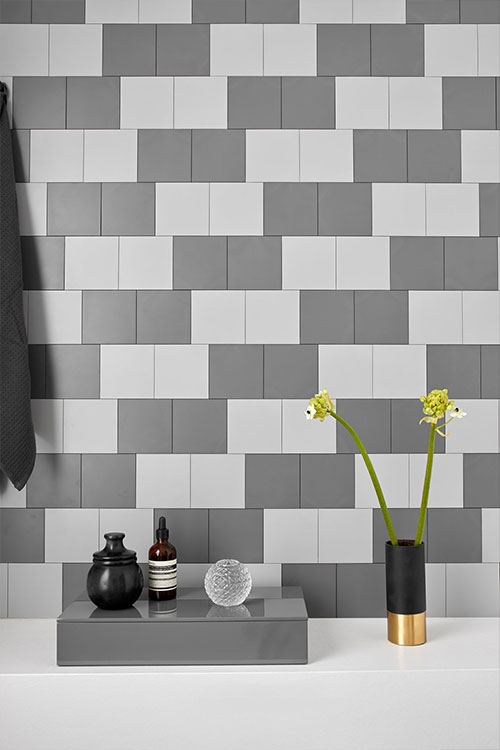 Innovative tile system that allows you to change the look of your walls