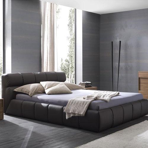 Cloud Platform Bed in Brown