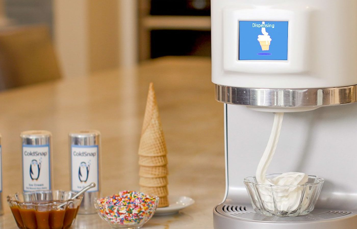 ColdSnap makes soft-serve ice cream from pods in less than 2 minutes