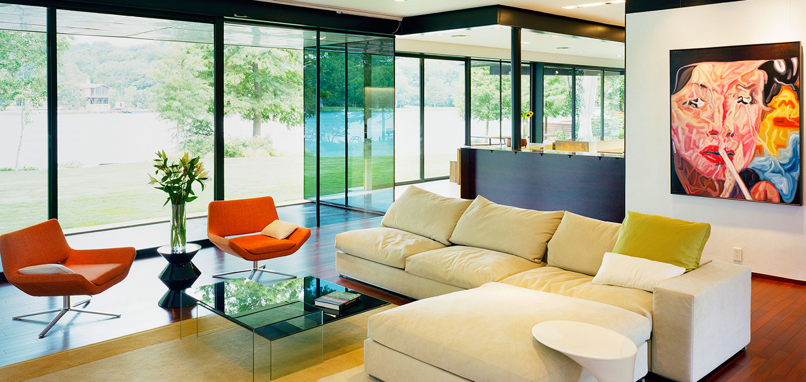 Colorful Modern Living Room Design