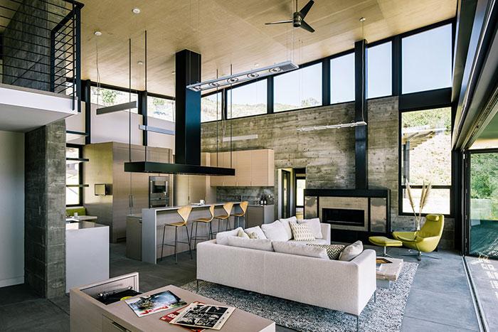 Contemporary Home In Carmel California Open-Space Interior Design