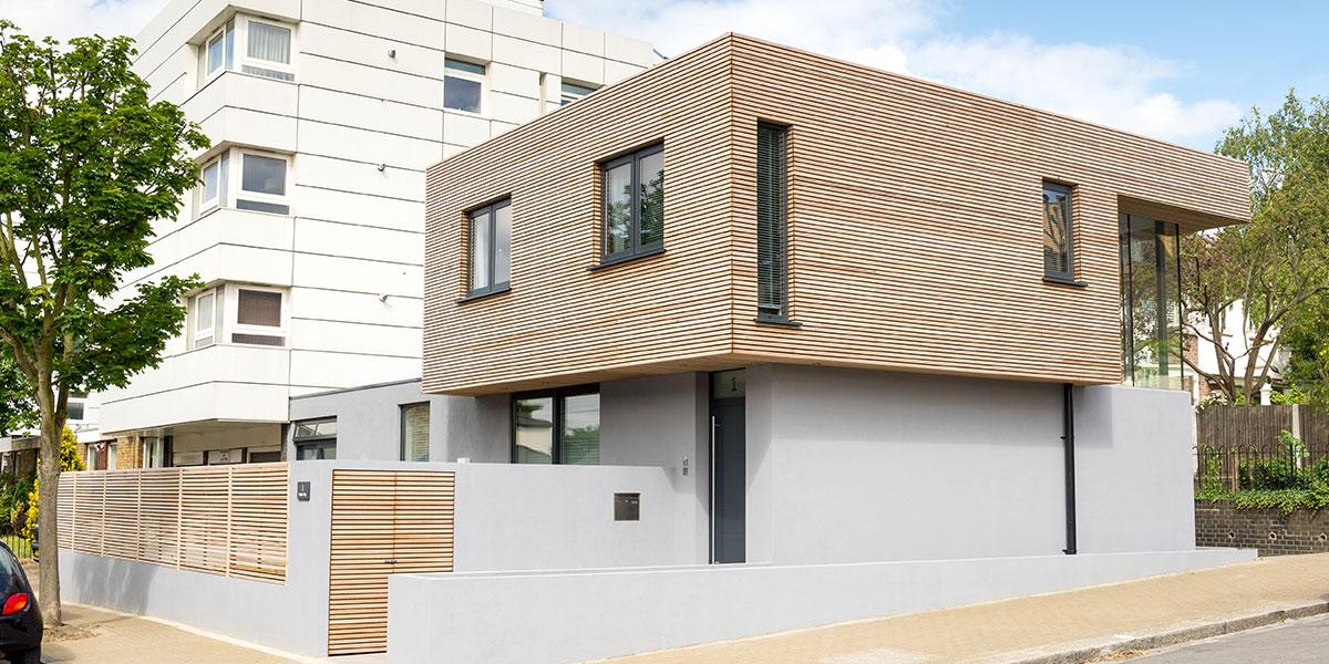 Modern House In Balham UK With Large Corner Window