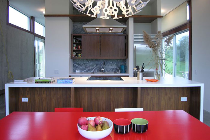 Contemporary Kitchen Design In A Vacation House