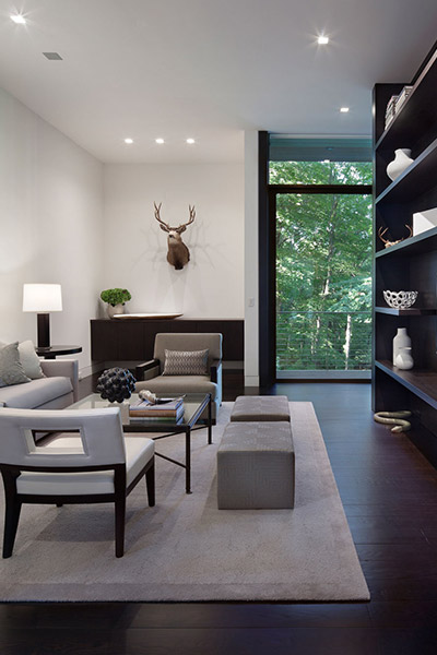 Contemporary Living Room In New Canaan Connecticut