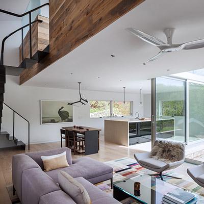 Davis Residence - Modern Living Room And Kitchen