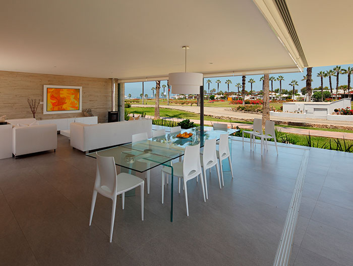Dining Room And Living Room With Spectacular View