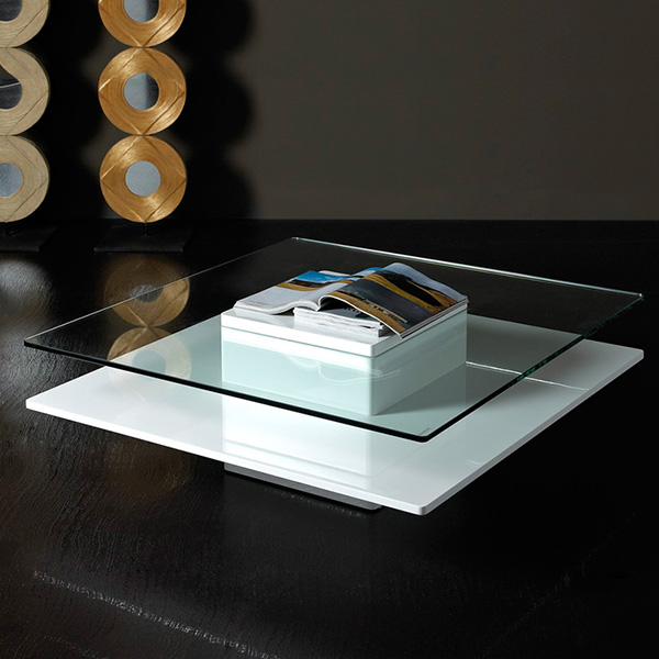 Emulsion Modern White Coffee Table