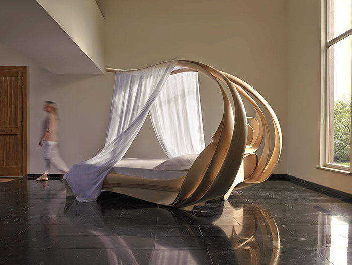 Enignum VI Canopy Bed unique furniture design by Joseph Walsh Studio