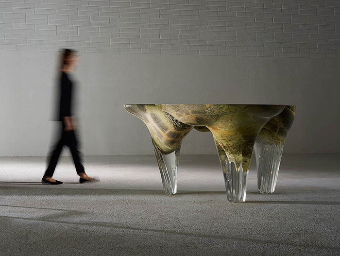 Exilumen I unique futuristic table design by Joseph Walsh Studio