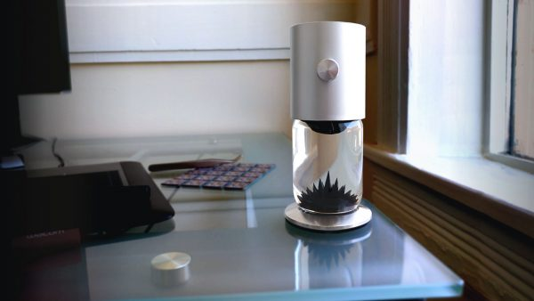 FerroFlow - a mesmerizing ferrofluid sculpture for your home office