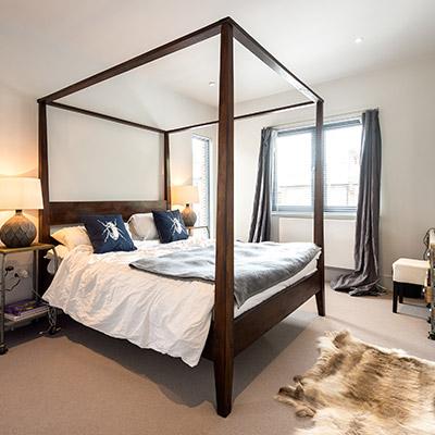 Four-Poster Bed Modern Bedroom Design