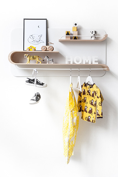 Functional shelving collection for kids room